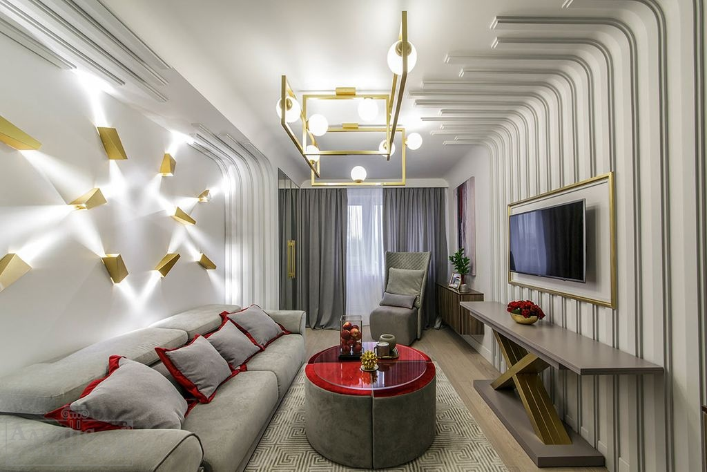 квартирный вопрос дизайн гостиной спальни фото